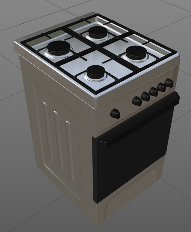 cooker gas stove 3D model