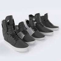 3D supra skytop shoes model