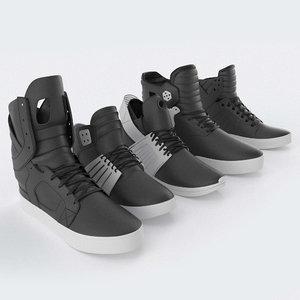 3D supra skytop shoes model