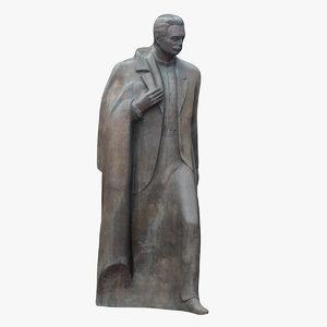 ivan franko monument 3D