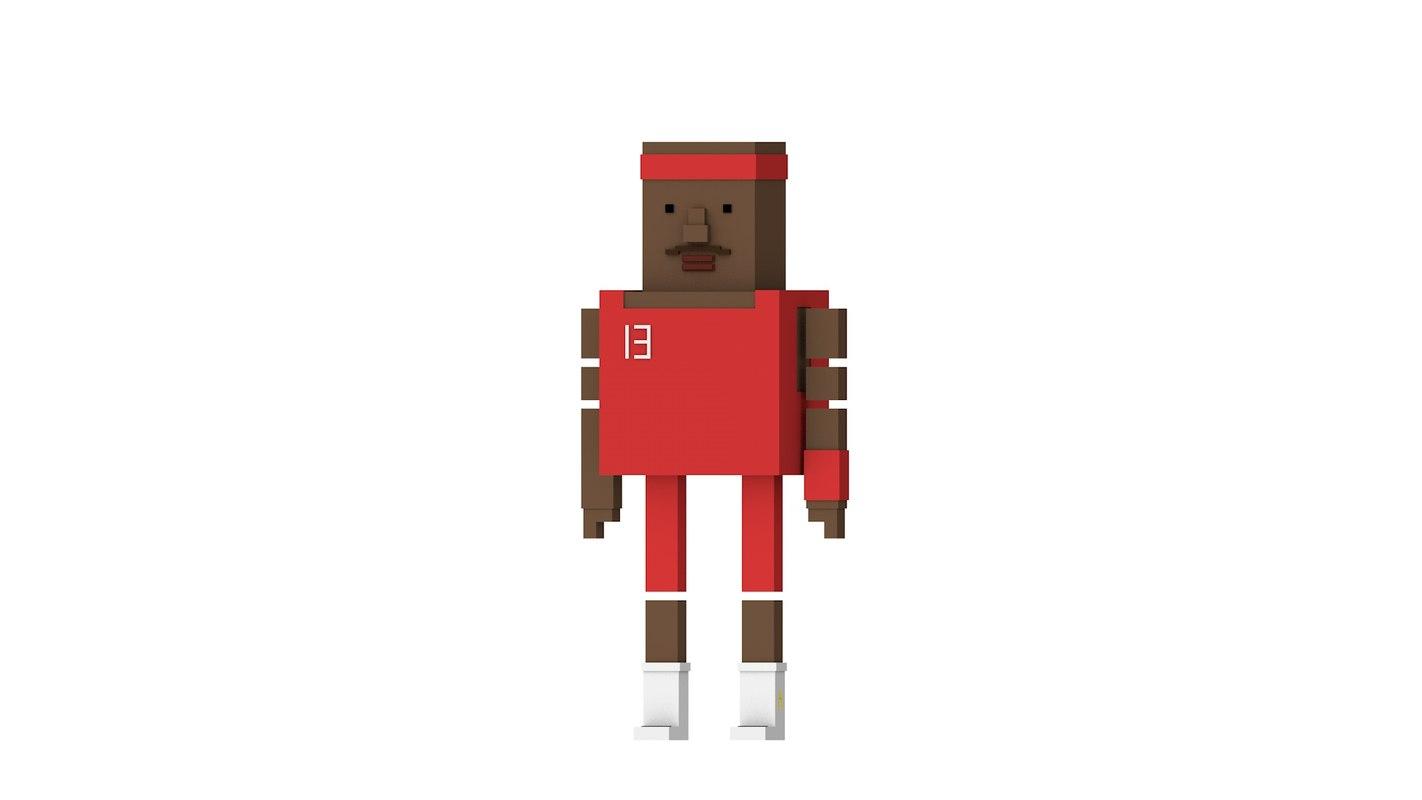 3D model simple basketball man