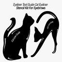 Eyeliner Tool Guide Cat Eyeliner Stencil Kit For Eyebrows