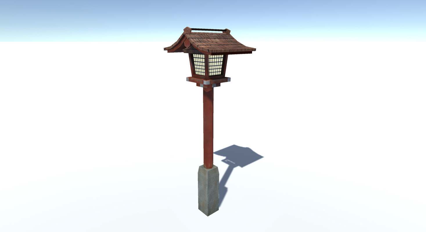 japan street lamp 3D