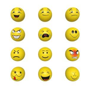3D smileys pack model