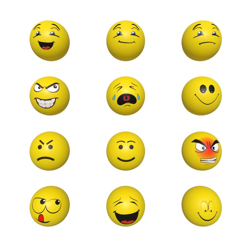 3D smileys pack model
