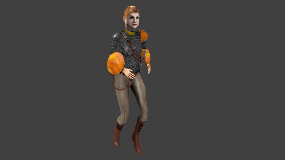 warrior princess character woman 3D model