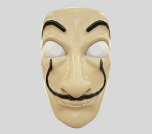 3D salvador dali mask model