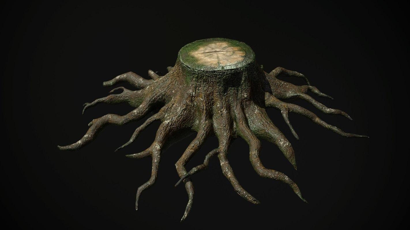 tree stump 3D