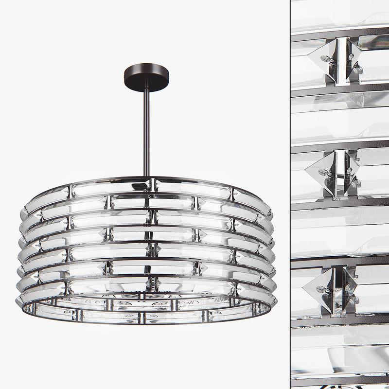 chandelier 746068 amerigo lightstar 3D