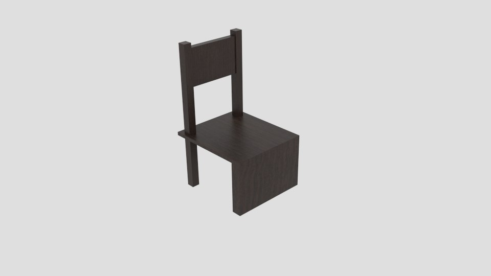 chair wood connect 3D model