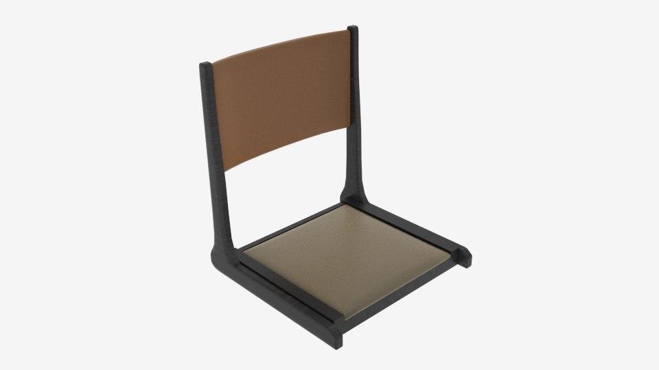 japanese floor chair 3D model