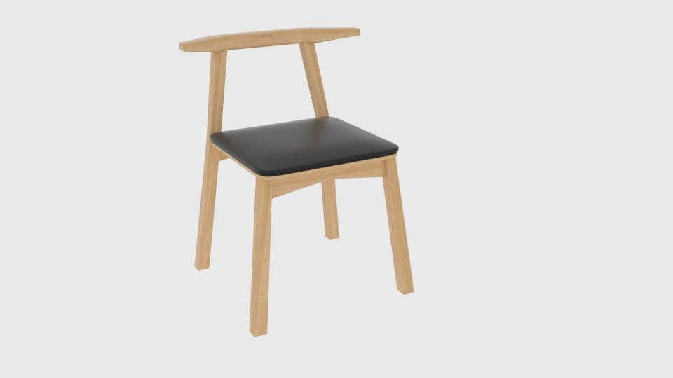 wooden toys japanese chair design 3D