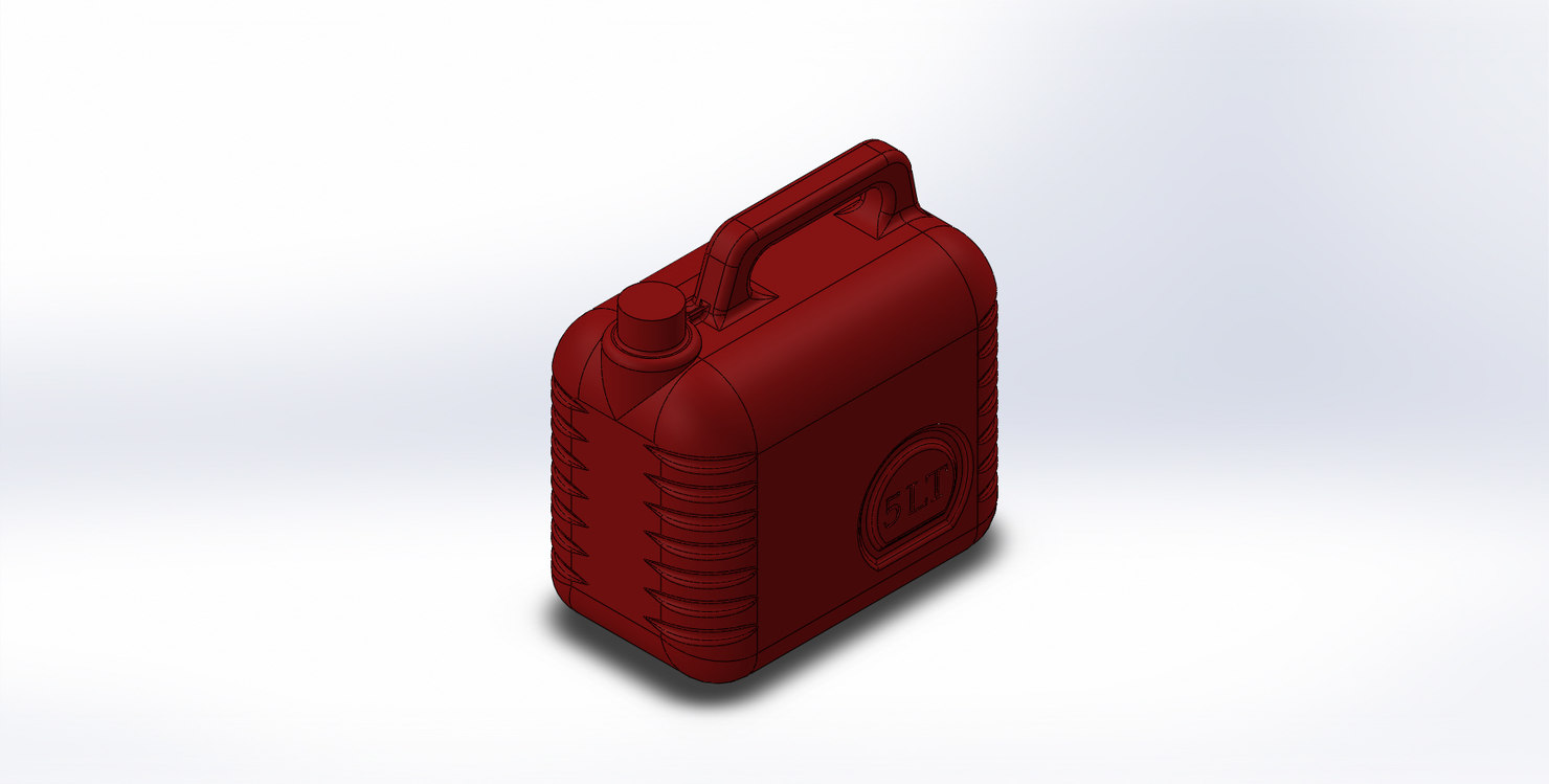 5000cc fuel bottle 3D model