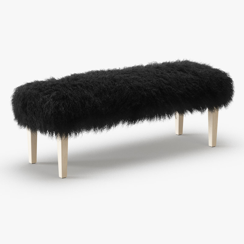 3D wool tibetan lamb bench