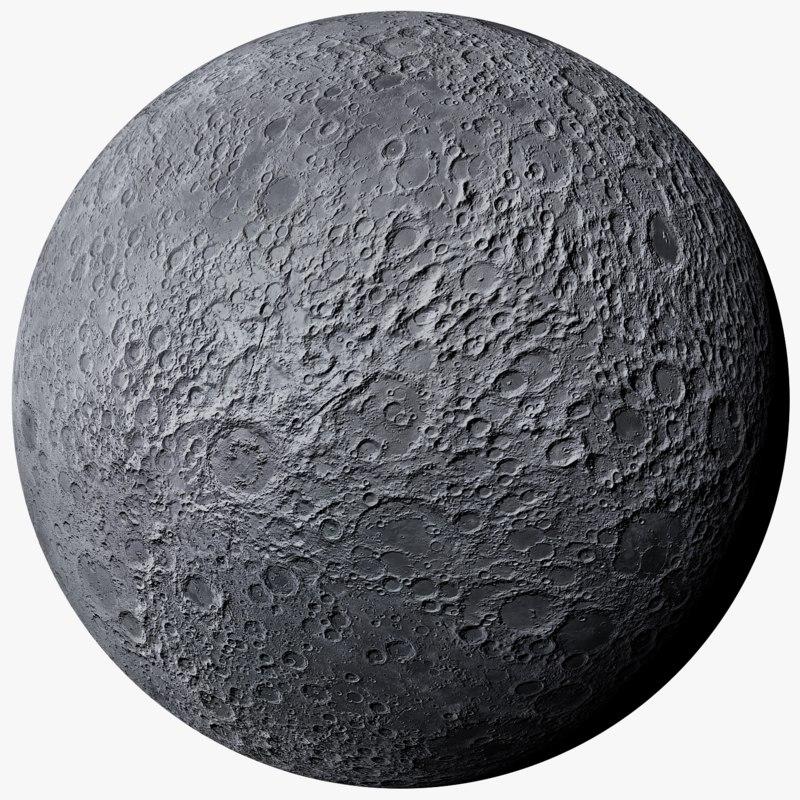 realistic moon photorealistic 2k model