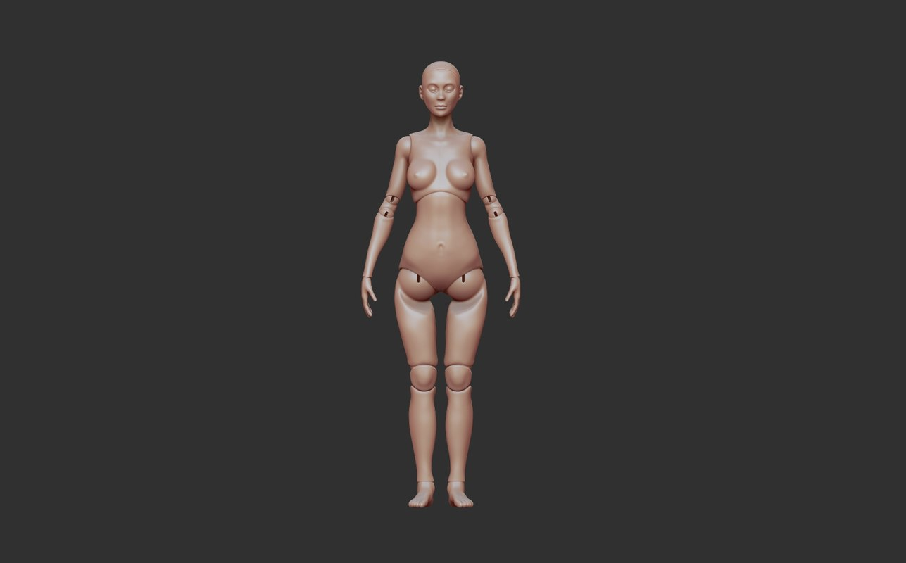 articulated doll 3D model