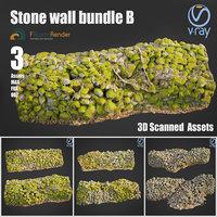 3D model stone wall b