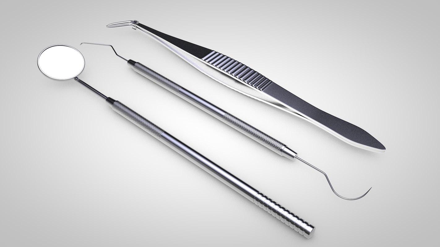 3D dentist tools model