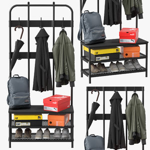 3D ikea pinnig coat rack