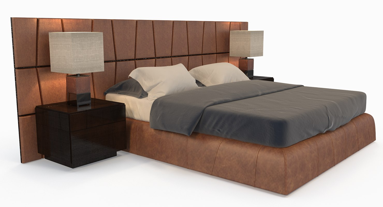 3D model bed smania colorado