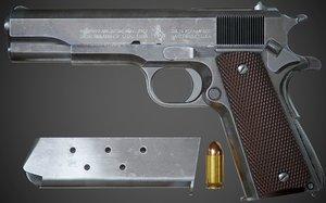 pistol colt m1911 a1 3D model