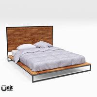 3D logan industrial bed west