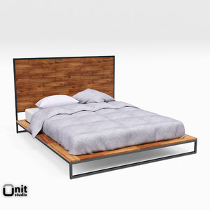 3D logan industrial bed west