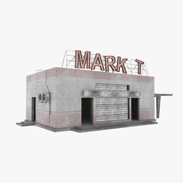 road market 3D model