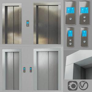 doors post 3D model