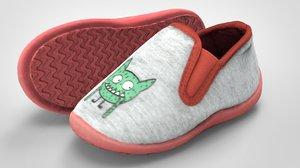 3D kids sneakers model