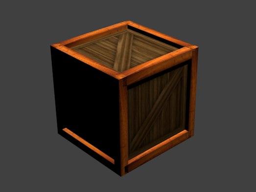 3D model crate box