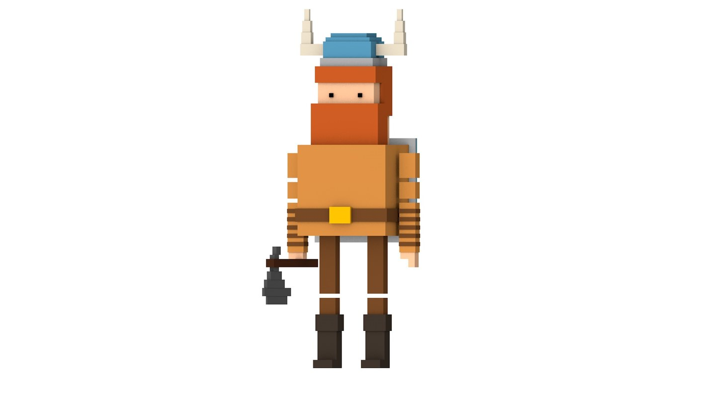 simple viking man 3D