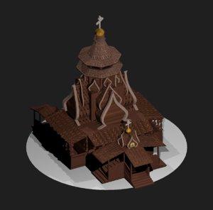 3D model russian church st nicholas