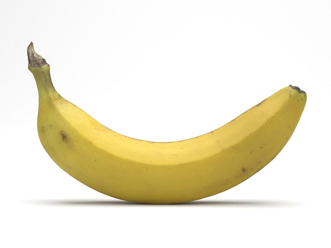 3D photorealistic scanned banana