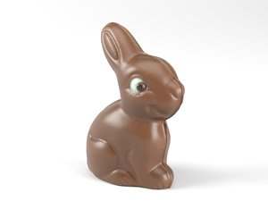 3D model photorealistic scanned easter chocolate