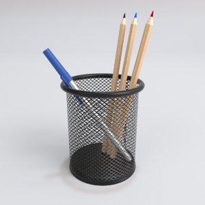 interior fslife mesh pen pencil 3D model