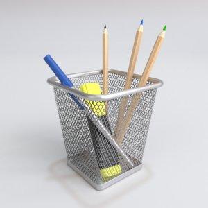 3D interior ikea pencil pen model