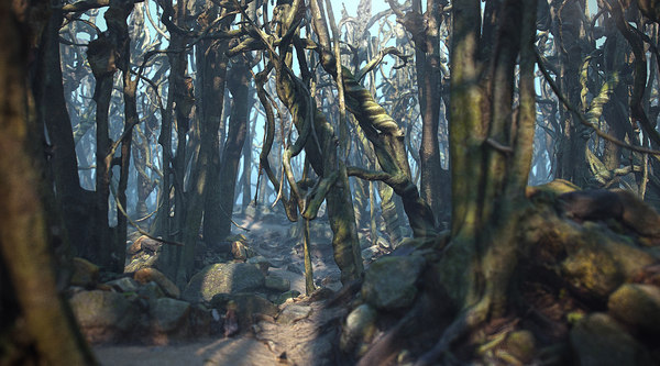 3D jungle liane forest