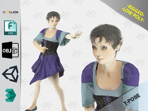elf woman 3D