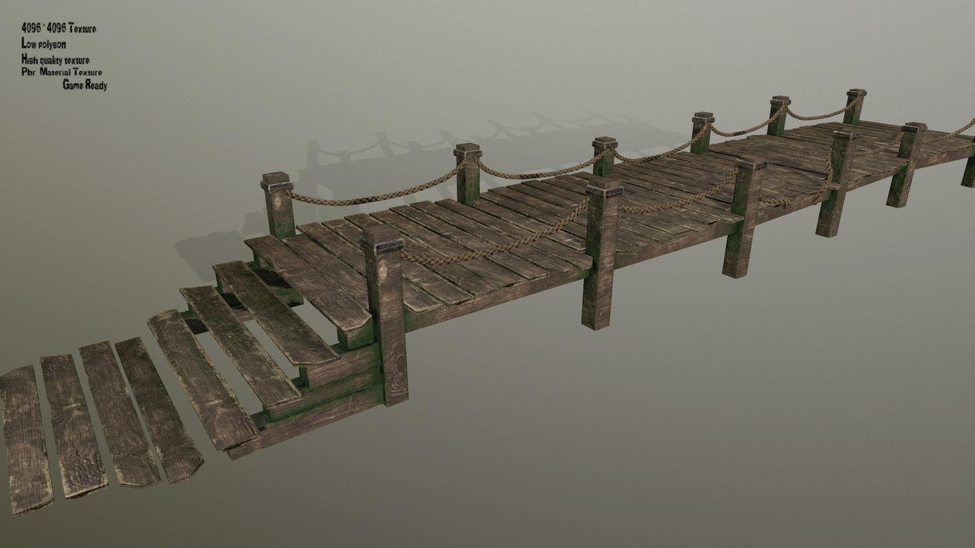 wooden pier model