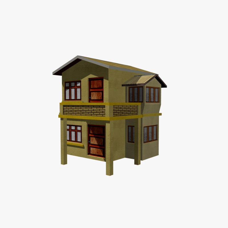 3D house structural home model