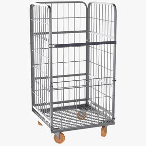 3D wire mesh roll container