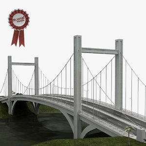 3D suspension bridge model