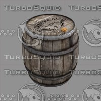 wood wooden barrel 3D model