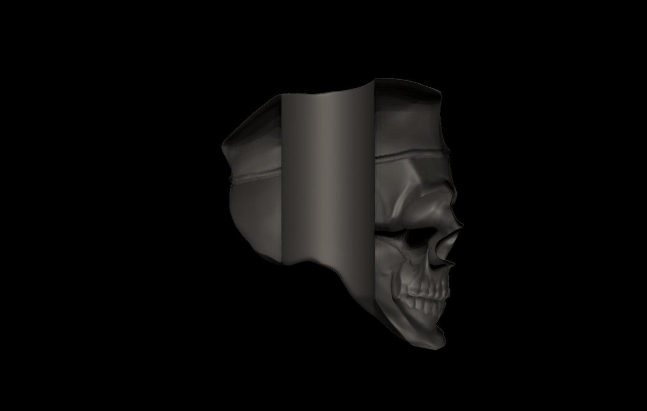 3D skull soldier print model