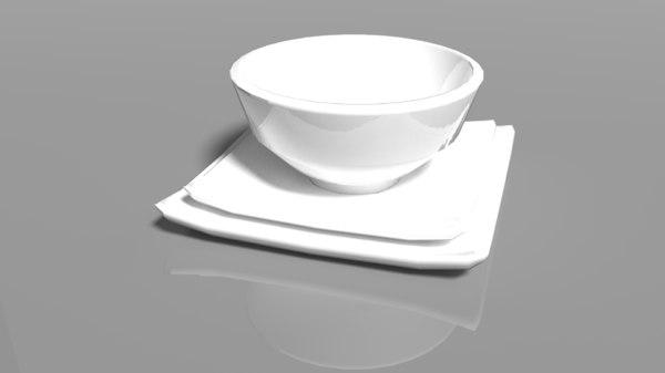 3D pbr plates bowls