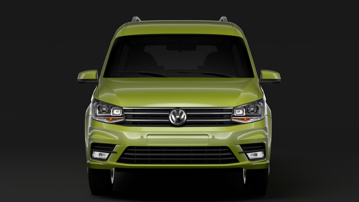 3D volkswagen caddy maxi 2018