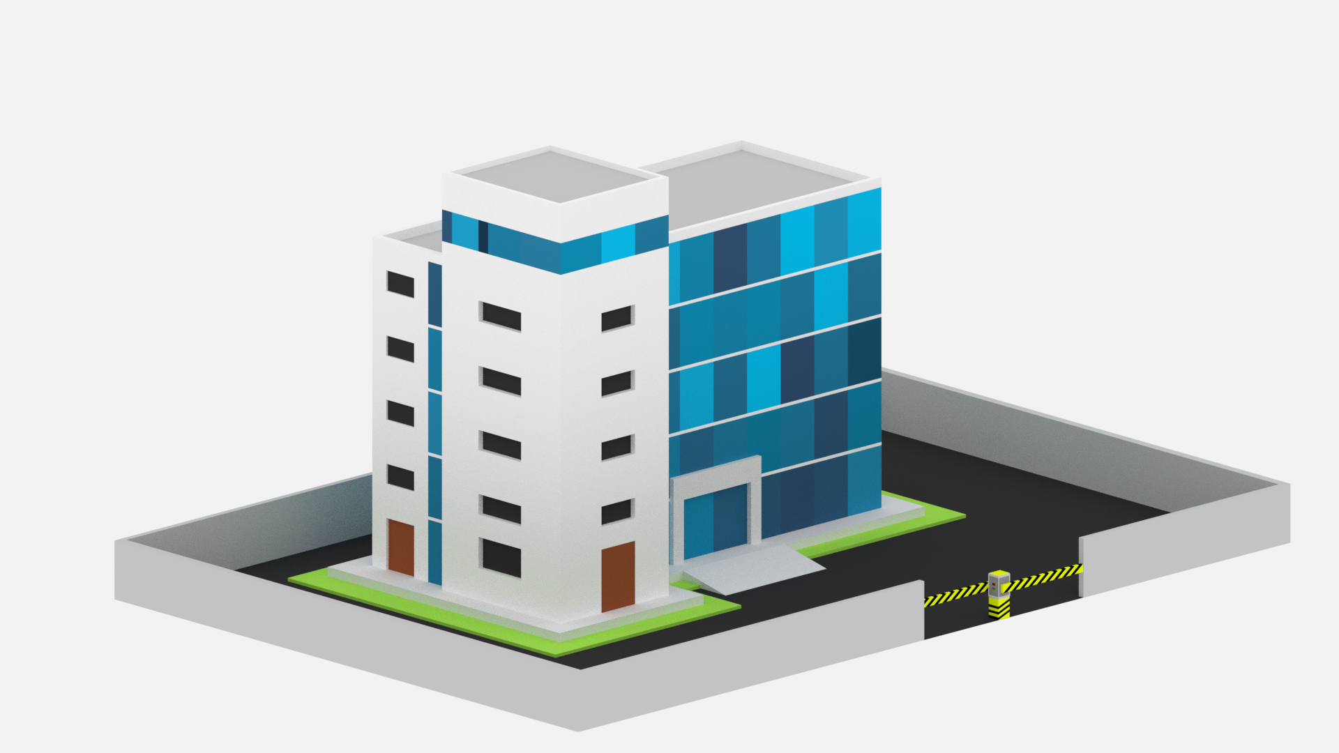 Isometric office building 3D - TurboSquid 1277603
