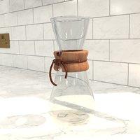 3 cup classic coffeemaker 3D model