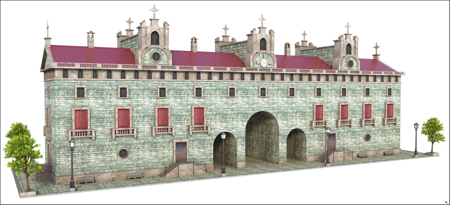 3D building structure church
